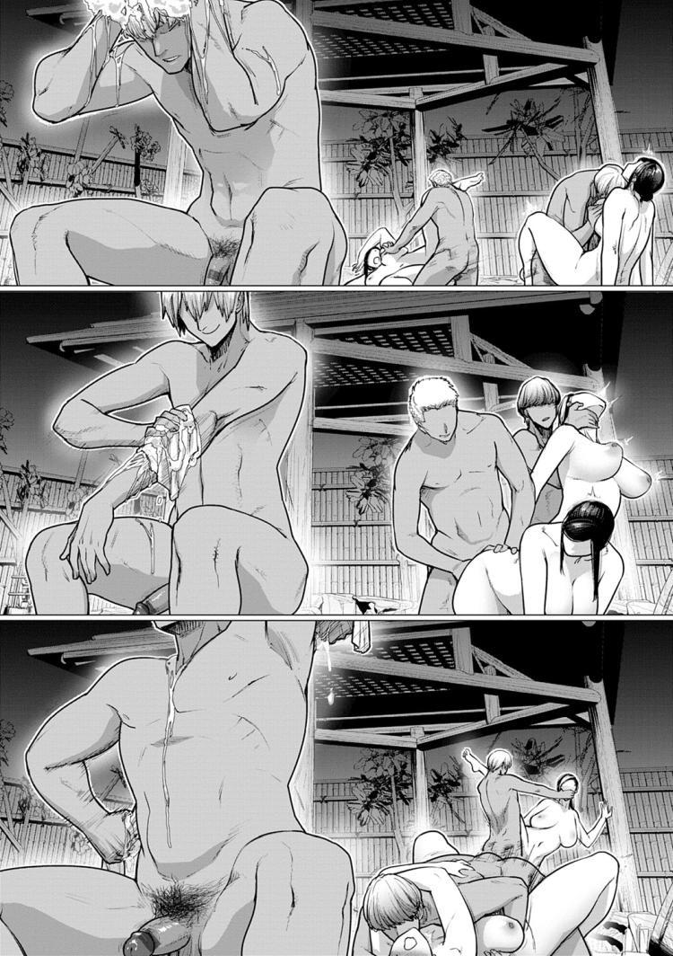【人妻エロ漫画】鬼畜レイプ魔たちに子宮の奥までザーメンぶっかけられて一晩で種付けされちゃう爆乳奥様!潮吹き温泉でアヘ堕ちしちゃいます!_00018